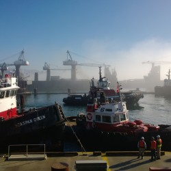 Tug Boats In The Fog